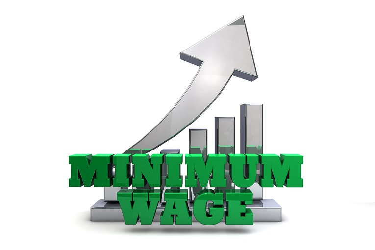 """minimum wage with chart in background"""
