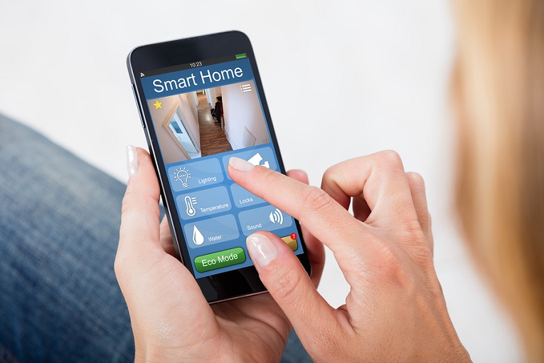 """Smart Home app on smartphone"""