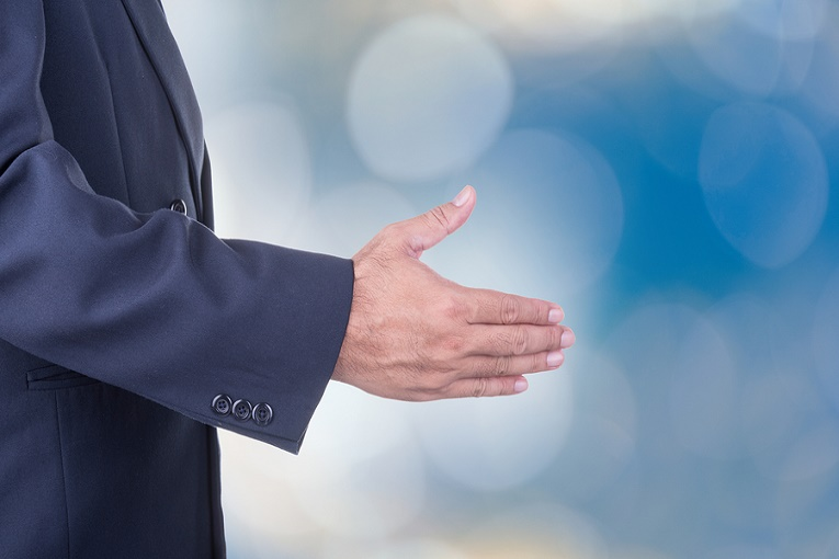 person shaking hand