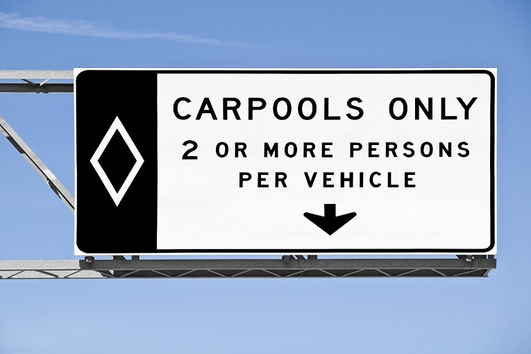 """carpools 2 or more persons per vehicle"""