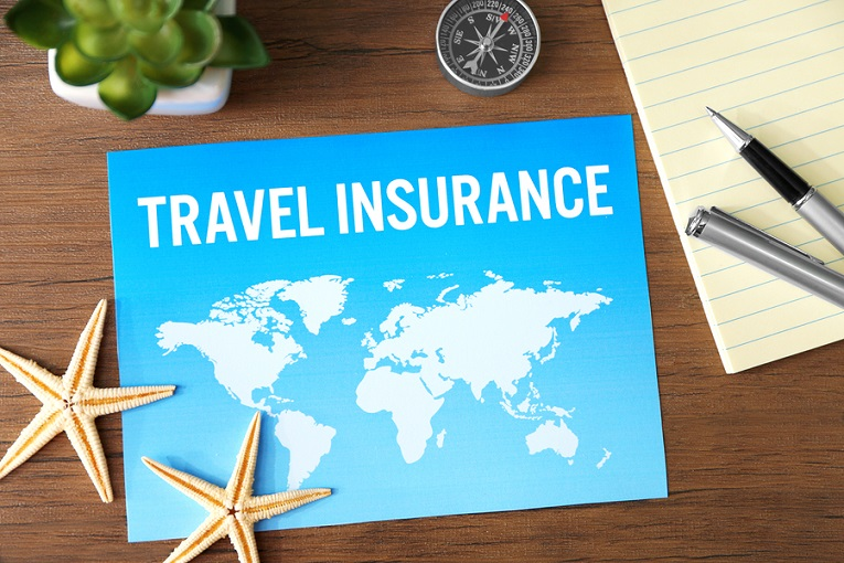 """""""travel insurance image with map and starfish"""""""