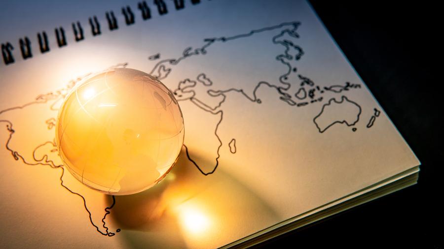 world globe crystal glass map scholarship