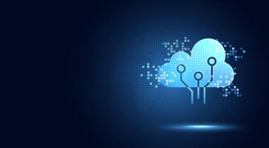 futuristic blue cloud artificial intelligence