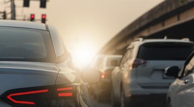 cars in heavy traffic