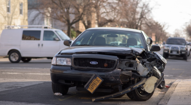 car damaged in an accident