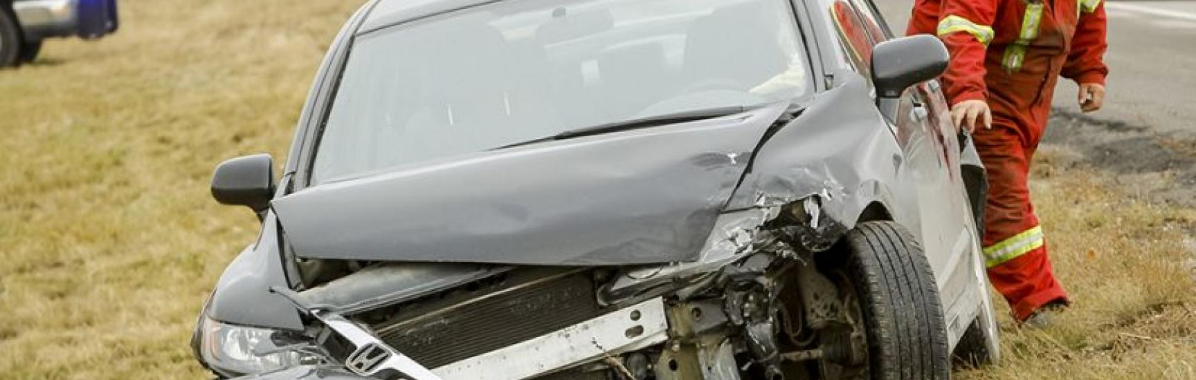 crunched car