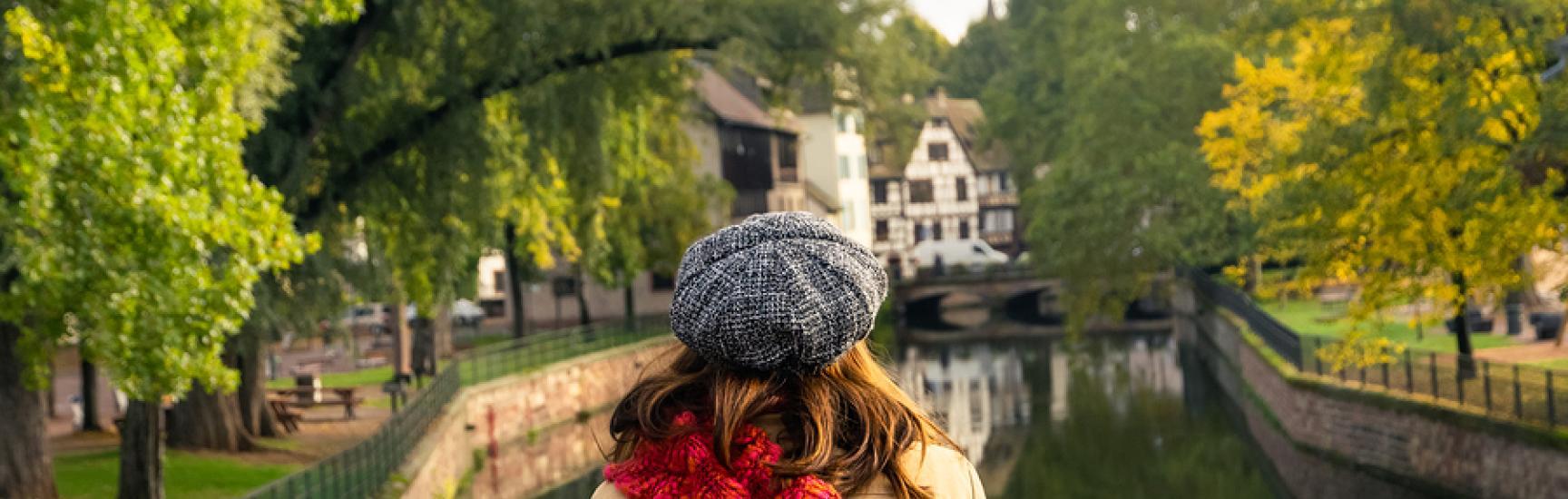 woman relaxing on bridge