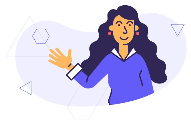 woman waving surex illustration image